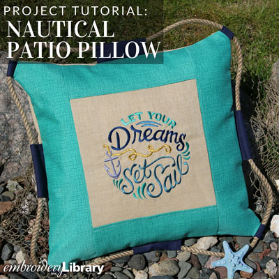 Nautical Patio Pillow