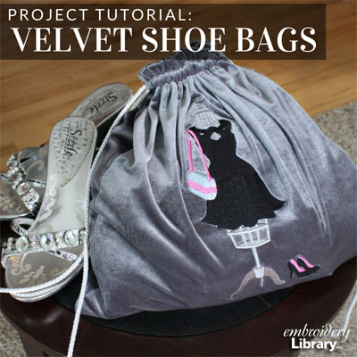 Velvet Shoe Bags