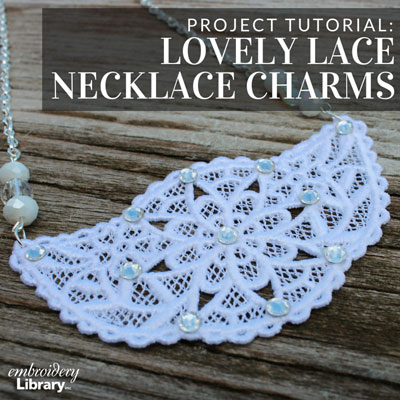 Lovely Lace Necklace Charms
