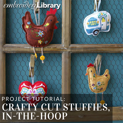 Crafty Cut Stuffies, In-the-Hoop
