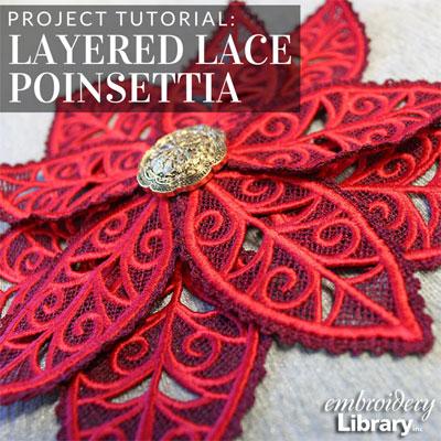 Layered Lace Poinsettia