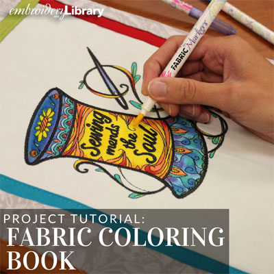 Fabric Coloring Book