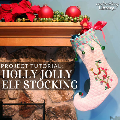 Holly Jolly Elf Stocking