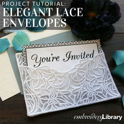 Elegant Lace Envelopes