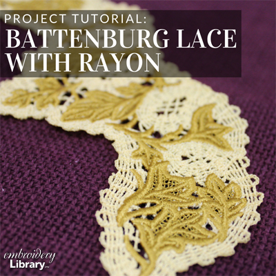 Freestanding Battenburg Lace with Rayon