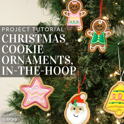 Christmas Cookie Ornaments, In-the-Hoop