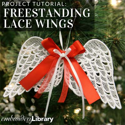 Freestanding Lace Wings