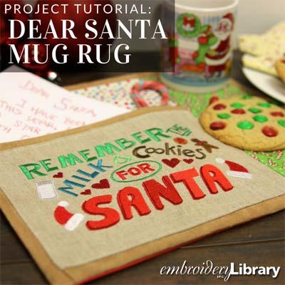 Dear Santa Mug Rug