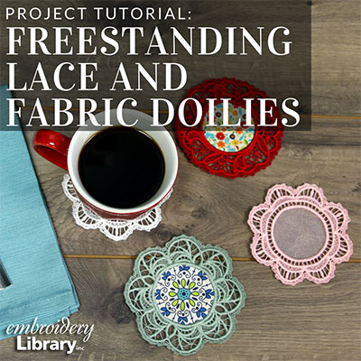 Freestanding Lace and Fabric Doilies