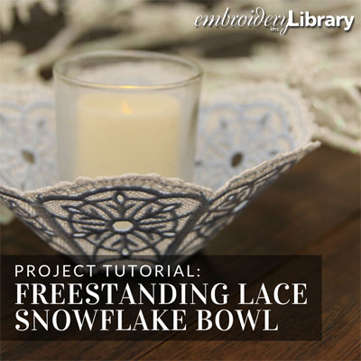 Freestanding Lace Snowflake Bowl