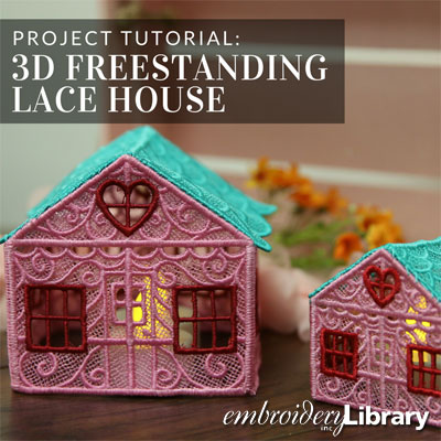 3D Freestanding Lace House