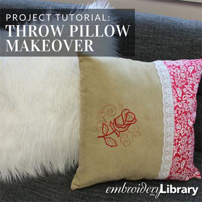 Throw Pillow Makeover