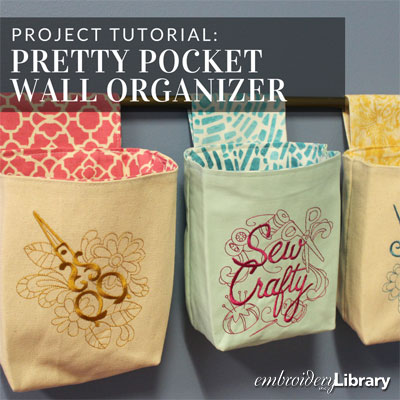 Pretty Pocket Wall Organizer