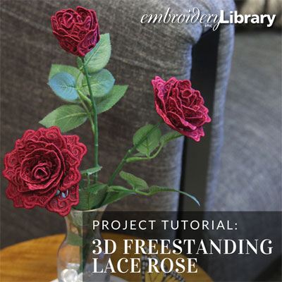3D Freestanding Lace Rose