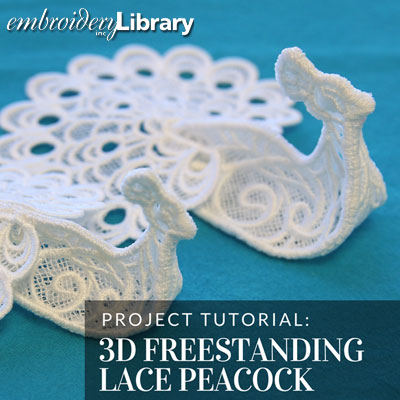 3D Freestanding Lace Peacock