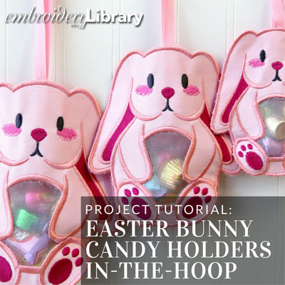 Easter Bunny Candy Holders (In-the-Hoop)