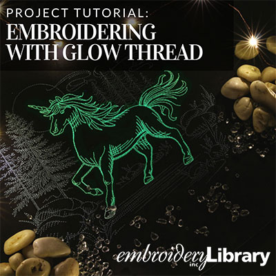 Embroidering with Glow Thread