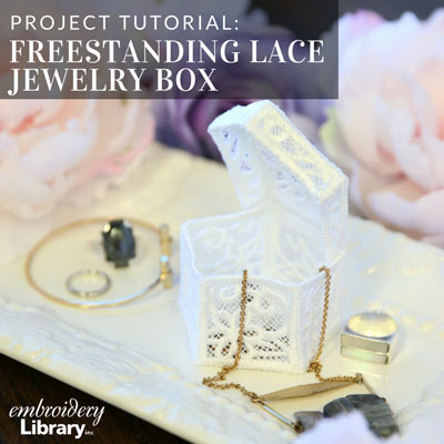 Freestanding Lace Jewelry Box