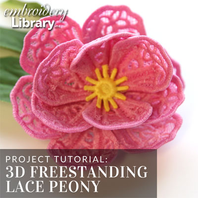 3D Freestanding Lace Peony