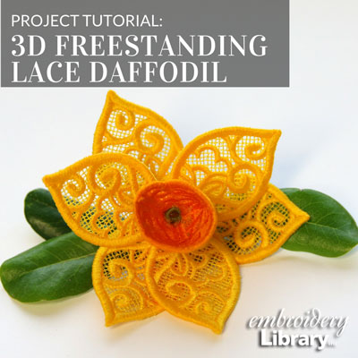 3D Freestanding Lace Daffodil