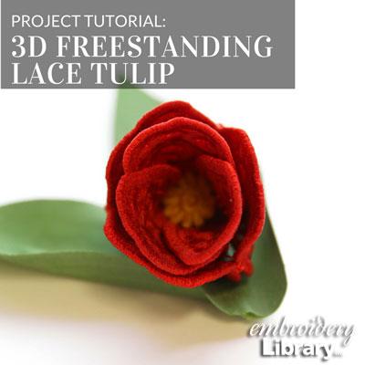 3D Freestanding Lace Tulip