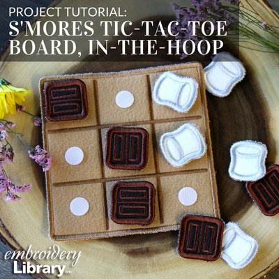 S'mores Tic-Tac-Toe Board