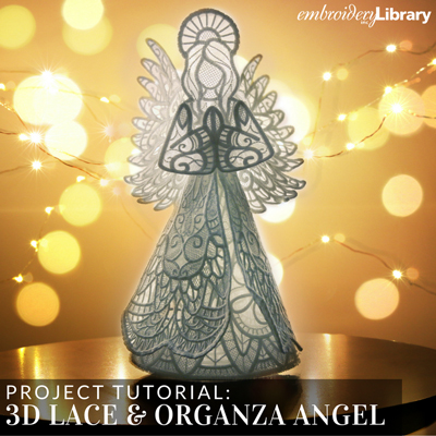 3D Lace and Organza Angel