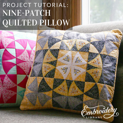 Nine-Patch Quilted Pillow