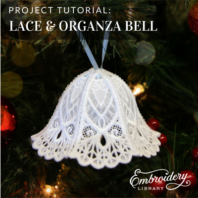 Organza Bell in 3D (Lace)
