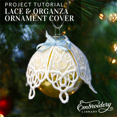 Lace and Organza Ornament Cover