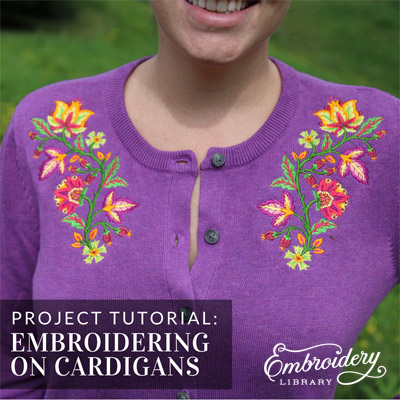 Embroidering on Cardigans
