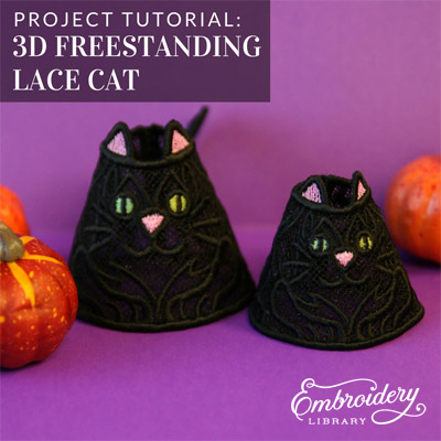 3D Freestanding Lace Cat