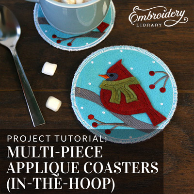 Multi-piece Applique Coasters (In-the-Hoop)
