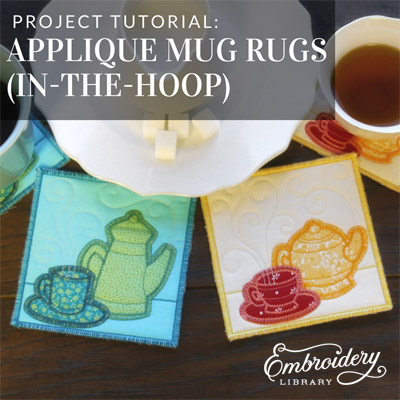 Applique Mug Rugs (In-the-Hoop)