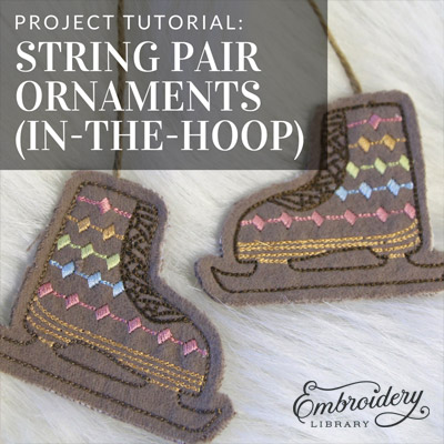Holiday Pair Ornaments (In-the-Hoop)