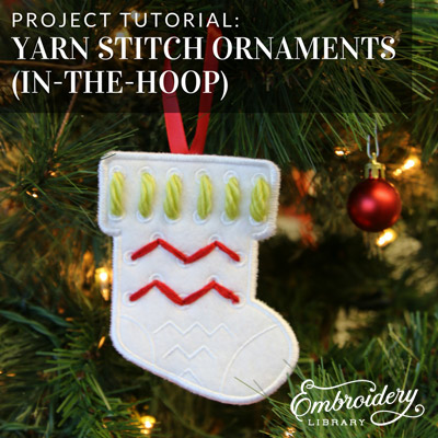 Yarn Stitch Ornaments (In-the-Hoop)