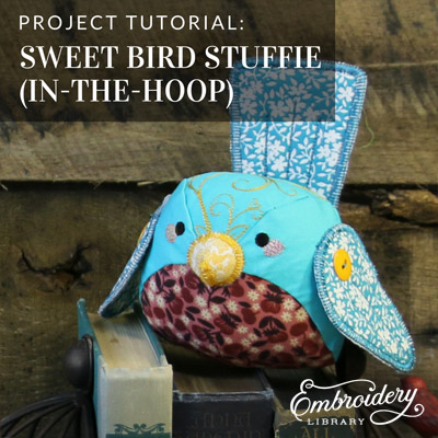 Bird Stuffie in 3D (In-the-Hoop)
