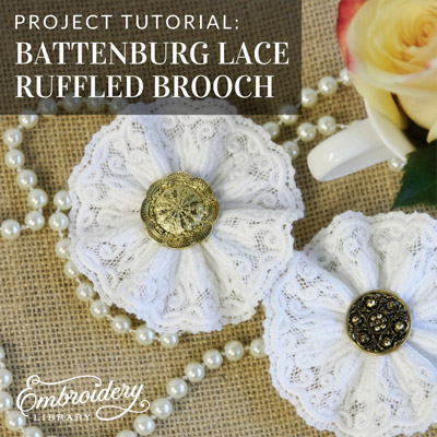 Ruffled Brooch (Battenburg Lace)