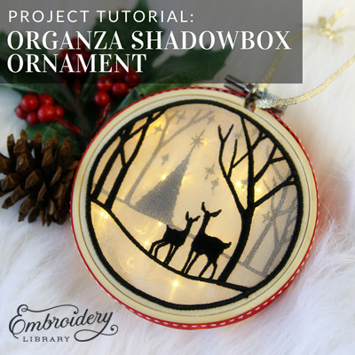 Organza Shadowbox Ornament
