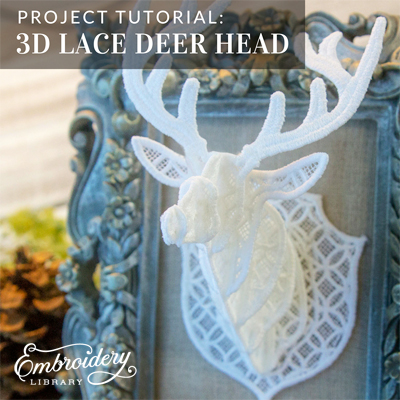 3D Lace Deer Head
