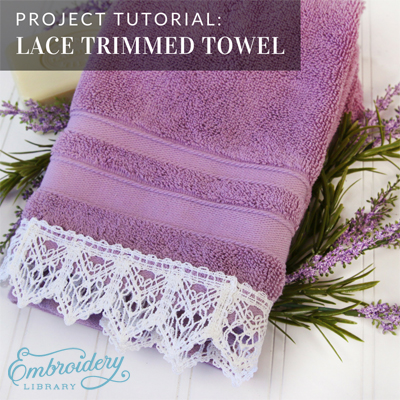 Lace Trimmed Towel