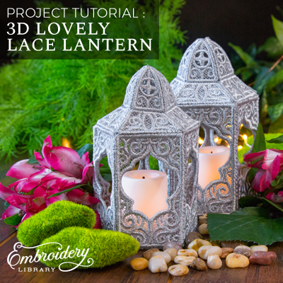 3D Lovely Lace Lantern