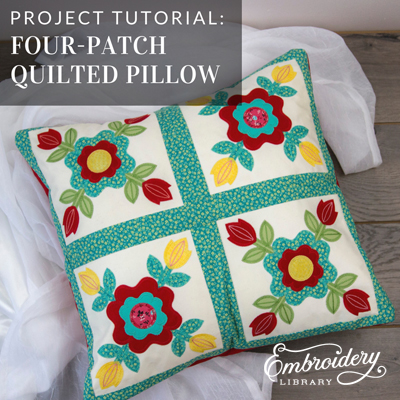 Four-Patch Quilted Pillow