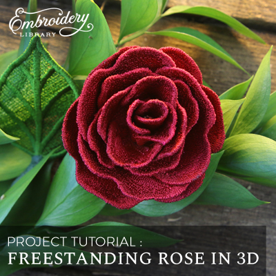 Freestanding Rose in 3D