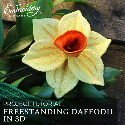 Freestanding Daffodil in 3D