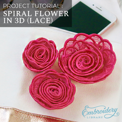 Spiral Flower in 3D (Lace)