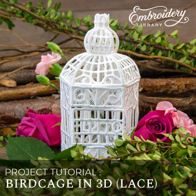 Birdcage in 3D (Lace)