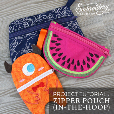 Zipper Pouch (In-the-Hoop)