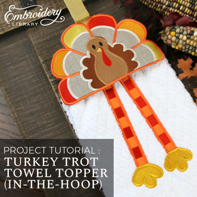 Turkey Trot Towel Topper (In-the-Hoop)