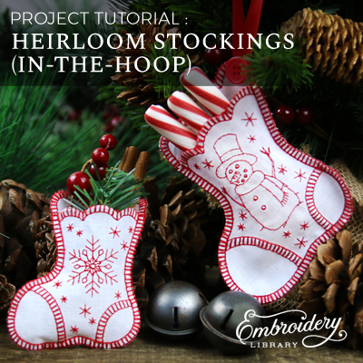 In-the-Hoop Heirloom Stocking